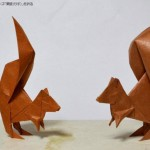 戯れる栗鼠(リス)
